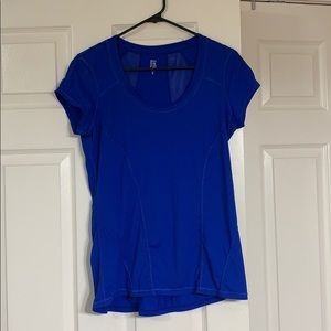 Blue Exercise Tee